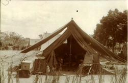 Holmes at Sawa base camp in Mozambique