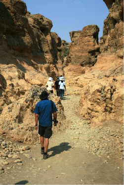 IUGS-GEM delegates in Sesriem Canyon, a narrow canyon cut in alluvial fan conglomerates and associated sedimentsNamibia.