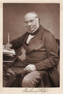 Sir Rowland Hill KCB FRS (1795 – 1879), father of the postal service.