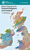 Bedrock Geology of the UK & Ireland map folded