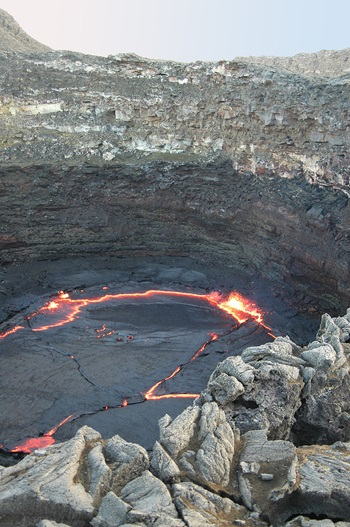 The Lava Lake in the caldera of Erta Ale
