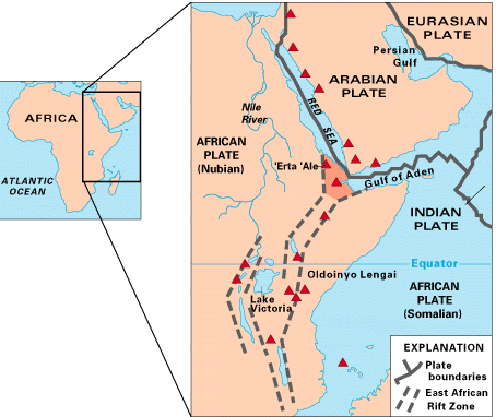 Map of the East African Rift Valley