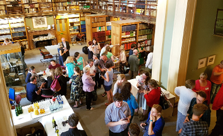 Drinks in the Lower Library before the final night's talk