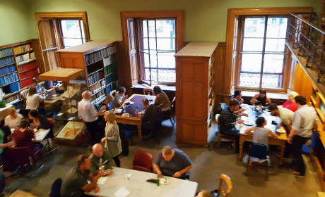 Dinner in the Lower Library