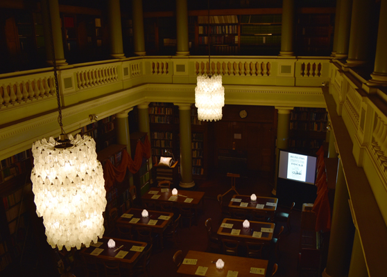 The Library ready for the class to begin