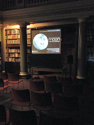 The Upper Library was arranged in a cinema style layout