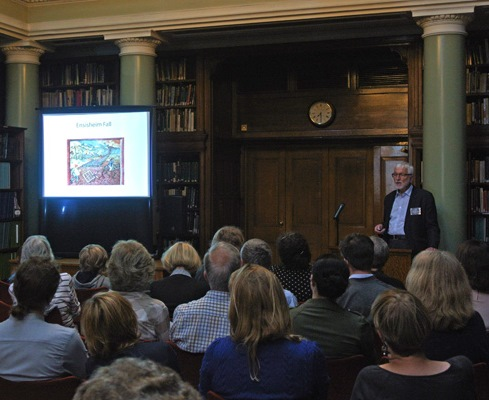 Paul Henderson lectures to a full house in the Upper Library