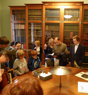 Following the lecture visitors enjoyed an archive display in the Lyell Room