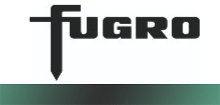 fugro written in black text with white background and green line underneath
